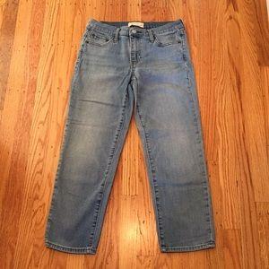 GAP slim cropped jeans size 27